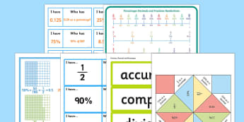 Fractions Decimals and Percentages - maths, numeracy, fractions, decimals, percentages, 100, equivalent, equ