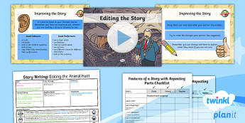 PlanIt Y1 Explorers: To Support Teaching on We're Going on a Bear Hunt Lesson Pack Story Writing (6)  - Explorers: Bear Hunt, story writing, edit, michael rosen, bears, writing, english, literacy, plannin