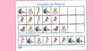 The Tailor of Gloucester Complete the Pattern Worksheets  - tailor