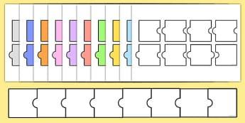 Blank Jigsaw Word Puzzles - blank, jigsaw, word, puzzles, activity, class