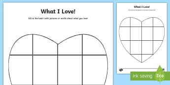 Year 3 Things I Love Activity Sheet - first week back, new school year, KS2, choices, likes, worksheet