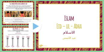 Eid Al Adha PowerPoint KS2 Arabic Translation - arabic, eid, eid al adha, powerpoint, ks2