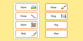 th Sound Word Cards - th sound, word cards, sounds, sound, cards