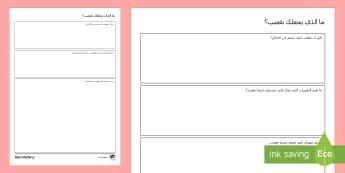 ورقة نشاط  - ما الذي يغضبُك - السلوك، إدارة الغضب، الغضب، ورقة عمل, Arabic