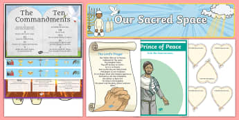 Sacred Space Display Pack - religion, altar, classroom set up, back to school display, ,Irish