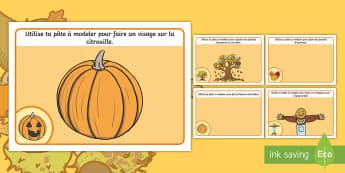 Set de pâte à modeler : Les feuilles d'automne - arts plastiques, motricité fine, activité physique, cycle 1, cycle 2, playdough, automne