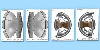 3D Stuarts Roundhead Helmet Role Play Printable - 3d, stuarts, roundhead helmet, role play, printable