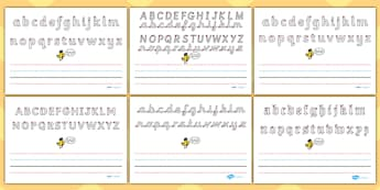 Name Writing Worksheet - Write name, line guide (landscape), Line Guides, name, Handwriting, Writing aid, Learning to write