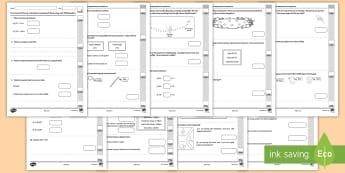 First Level P4 Baseline Maths Assessment Test - numeracy, mathematics, CFE, tracking, monitoring ,Scottish