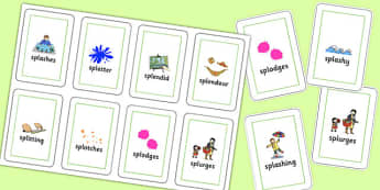 Two Syllable SPL Flash Cards - speech sounds, phonology, articulation, speech therapy, cluster reduction, complex clusters, three element clusters