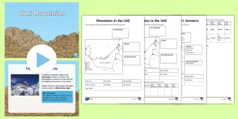 Mountains in the UAE PowerPoint Pack - UAE, ADEC, MOE, mountains, geography, science, hills, landscape, PowerPoint, activity sheets.
