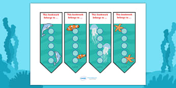 Under The Sea Sticker Reward Bookmarks (15mm) - Under the sea sticker Reward Bookmarks (15mm), under the sea, reward bookmarks, bookmarks, reward, 15mm, 15 mm, stickers, twinkl stickers, award, certificate, well done, behaviour management, behaviour,