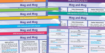 EYFS Lesson Plan and Enhancement Ideas to Support Teaching on Meg and Mog - planning, Early Years, continuous provision, early years planning, adult led, Helen Nicoll, witch, magic, Halloween