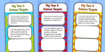 2014 Curriculum Year 6 Science Assessment Bookmarks and Cut Outs
