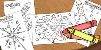 Bonfire Night Colouring Sheets Romanian Translation - romanian