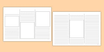 Leaflet Outline - writing template, writing aid, leaflets