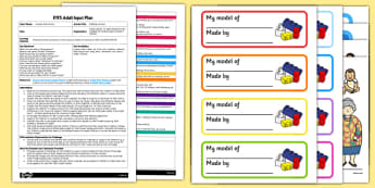 EYFS Building a House Adult Input Plan and Resource Pack - EYFS, Early Years planning, adult led, houses and homes, fairytales, stories, EAD, Expressive Arts and Design.