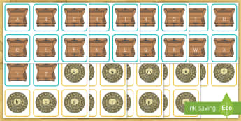 Pirate Treasure Chest Alphabet Matching Cards - pre-k literacy, kindergarten literacy, letter matching, alphabet matching, ABC's, Pirates, pirate t