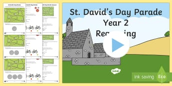 St. David's Day Parade Differentiated Activity Sheets - Dewi Sant,St David's Day, numeracy, reasoning, money, time, st david, St David, Saint David.
