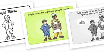 Simple Simon Sequencing - Simple Simon, sequencing, nursery rhyme, rhyme, rhyming, nursery rhyme story, nursery rhymes, Simple Simon resources