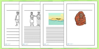 Kensuke's Kingdom Writing Frames - writing template, writing aid