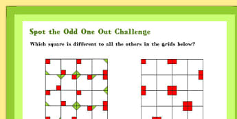 A4 Spot the Odd One Out Maths Challenge Poster - Spot, Odd, Maths