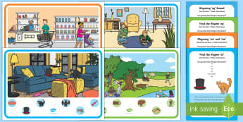 Bumper Rhyming Sound Can you Find...? Poster and Prompt Card Pack - Phase 1 Aspect 4: Rhythm and Rhyme, letters and sounds, phonics, rhyming, rhyme
