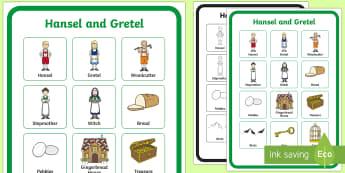 Hansel and Gretel Vocabulary Poster - vocabulary, poster, vocab