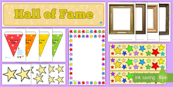 Hall of Fame Display Pack - all about me, ourselves, famous, stars, hollywood
