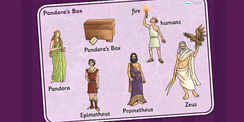 Pandoras Box Ancient Greek Myth Word Mat - greek mythology, myth