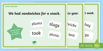 Middle East Phase 4 Sentence Substitution Activity Mat - sentence, Reading, Blending, Consonant Clusters, initial blends. Phonics, UAE