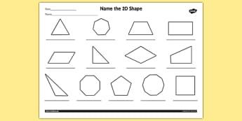 Name the 2D Shape Year 4 Worksheet - worksheet, 2d, shape, year 4