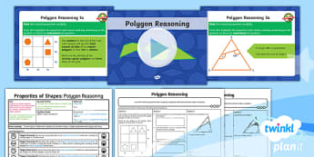 PlanIt Y6 Properties of Shapes Lesson Pack - Properties of Shape, reasoning, 2D shape, 3D shape, shape nets, triangles, polygons, quadrilaterals,