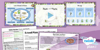 PlanIt - DT LKS2 - Edible Garden Lesson 2: Pesto and Pasta Lesson Pack