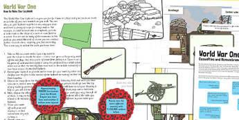 World War One Lapbook - world war one, lapbook, book, ww1, war