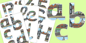 Town Themed Display Lettering - town, display lettering, display