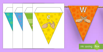 Welcome to Year Five Fingerspelling Display Bunting - year 5, year five, welcome to year five bunting, welcome to year 5 bunting,Welcome To Class, Classro