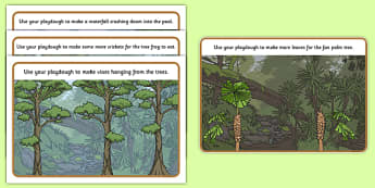 Australian Tropical Rainforest Habitat Playdough Mats - australia, Science, Year 1, Habitats, Australian Curriculum, Tropical, Rainforest, Living, Living Adventure, Environment, Living Things, Animals, Plants, Paydough Mats