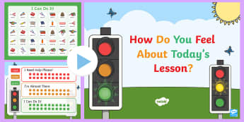 Visible Learning Reflection Traffic Lights PowerPoint - EYLF, Foundation, Visible Learning, feedback, reflection, feelings, kindergarten, preschool, Kinder,