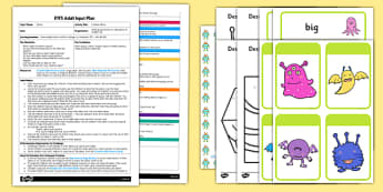 Invisible Aliens EYFS Adult Input Plan and Resource Pack - EYFS planning, space, aliens, planets, creative development, materials, drawing, adult input plan