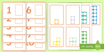 Workstation Pack: Number Shapes Matching Activity - Workstation Packs, TEACCH, autism, ASD, numicon, matching