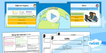 Computing: Using the Internet: Links Year 2 Lesson Pack 3