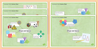 Functional Skills Shape and Space Success Sheets - KS4, KS5, adult education, maths, numeracy, functional skills, SEN, assessment, objectives