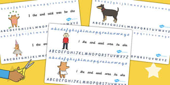 Alphabet Strips to Support Teaching on Biscuit Bear - Biscuit, Bear, Writing, Frame