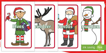 IKEA Tolsby Christmas Themed Editable Group and Table Signs