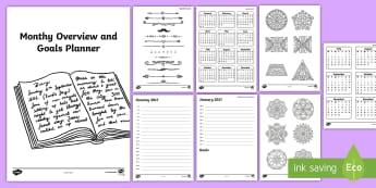 Bullet Journal Starter  Resource Pack - Bullet Journal, bujo, diary, journal, borders, colouring, doodles,Australia