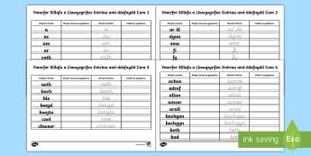 Pecyn Ymarfer Sillafu a Llawysgrifen Geiriau aml-ddefnydd - allweddol, aml ddefnyddiol, 100 gair, darllen, asesu, high frequency words,Welsh-translation