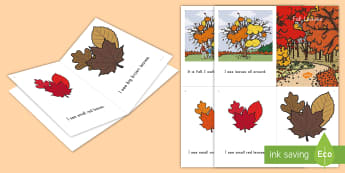 Fall Leaves Emergent Reader - fall, Emergent Reader, Fall reading, Fall Leaves, Seasons