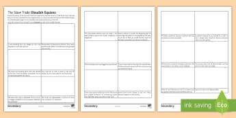 Olaudah Equiano's Journey Activity Sheet - slave trade, black history month, abolitionist, oladuah equiano, plantations, worksheet