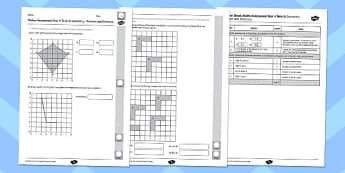 Year 4 Maths Assessment: Geometry - Position and Direction Term 3 - year 4, maths, assessment, geometry